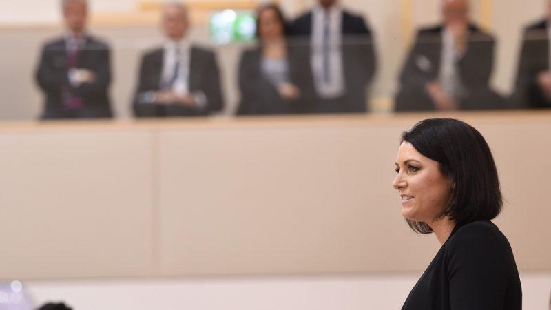 """""""Viel Potenzial für Bioethanol und grünes Gas"""" - CO2-Zölle wären """"unser großer Wunsch"""", aber nicht im Alleingang - Fleischimporte als größte Hürde für Mercosur-Abkommen. - Elisabeth Köstinger (ÖVP) (Bild: © Parlamentsdirektion / Johannes Zinner)"""