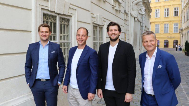 Linde Verlag ist mit an Bord des Start-ups. Das Management-Team hinter LawStar v.l.n.r.: Patrick Stummer, Georg Steiner, Christoph Angel und Gordan Gajski. (Bild: © privat)