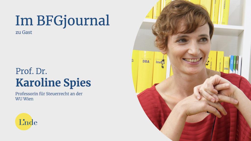 Prof. Dr. Karoline Spies im BFGjournal zu Gast
