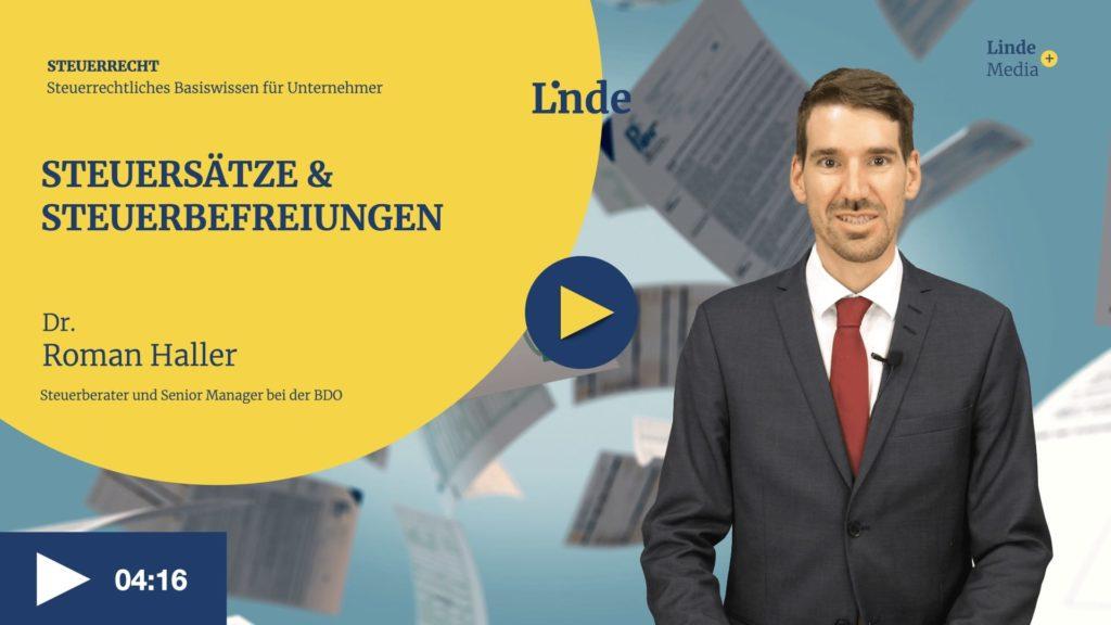 VIDEO: Steuersätze & Steuerbefreiungen – Roman Haller