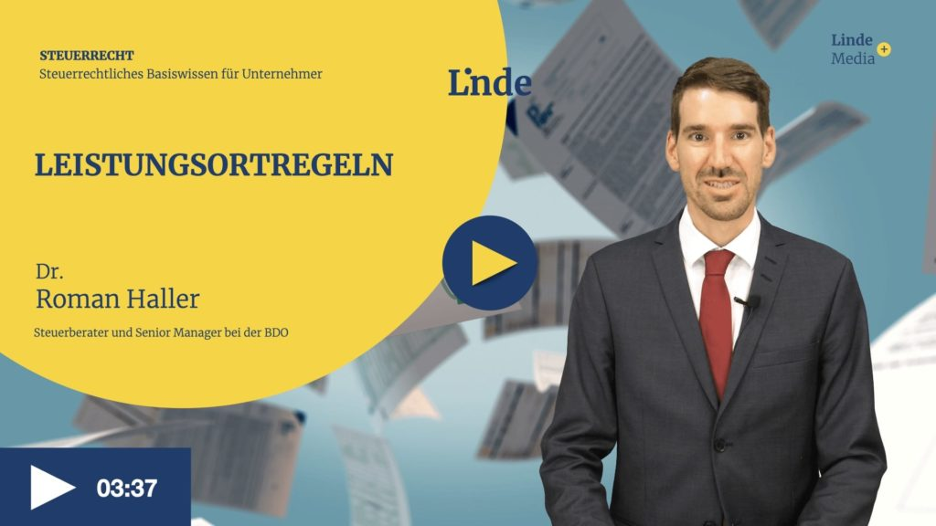 VIDEO: Leistungsortregeln – Roman Haller