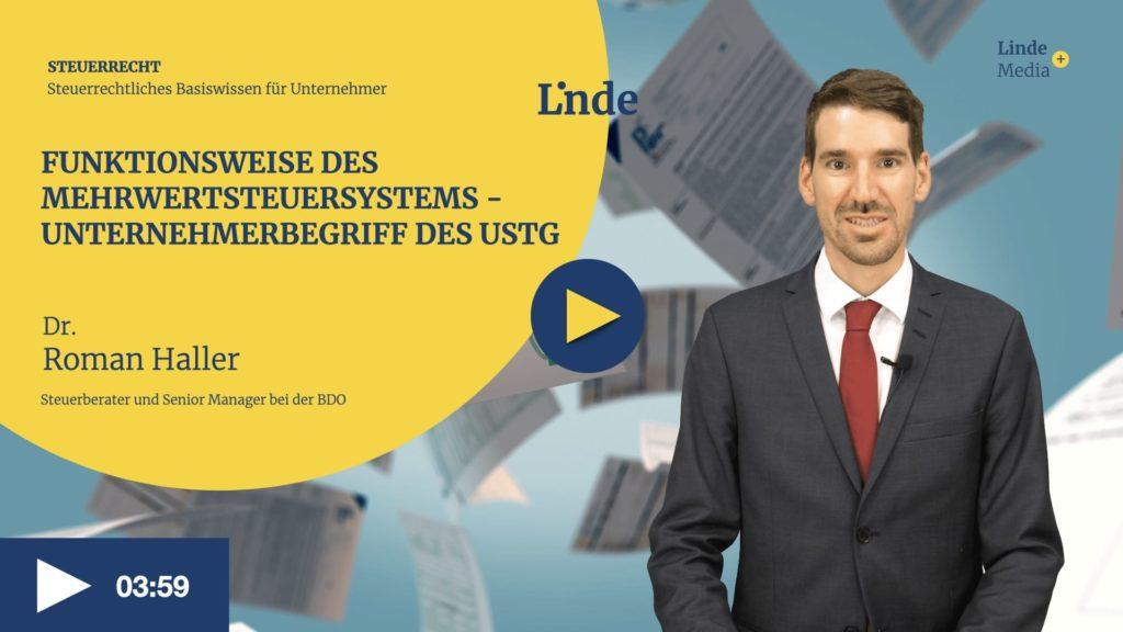 VIDEO: Funktionsweise des Mehrwertsteuersystems – Roman Haller