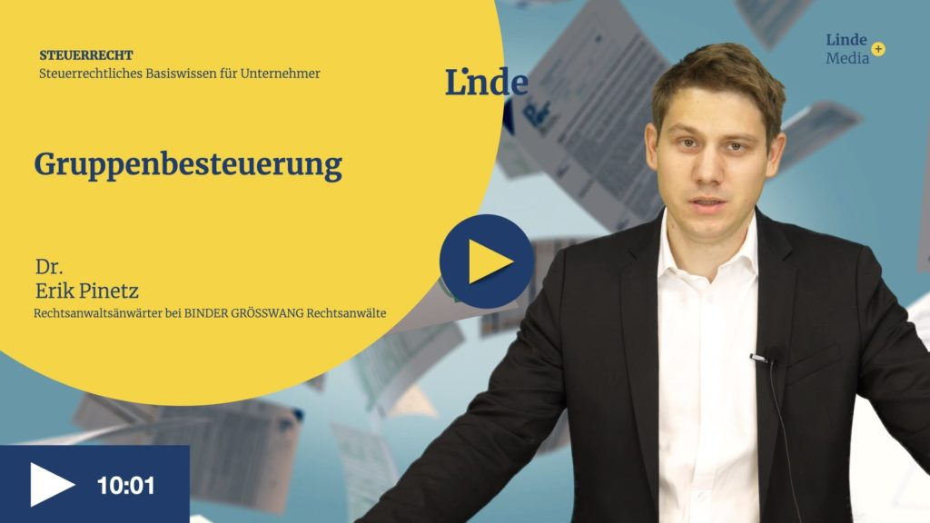VIDEO: Gruppenbesteuerung