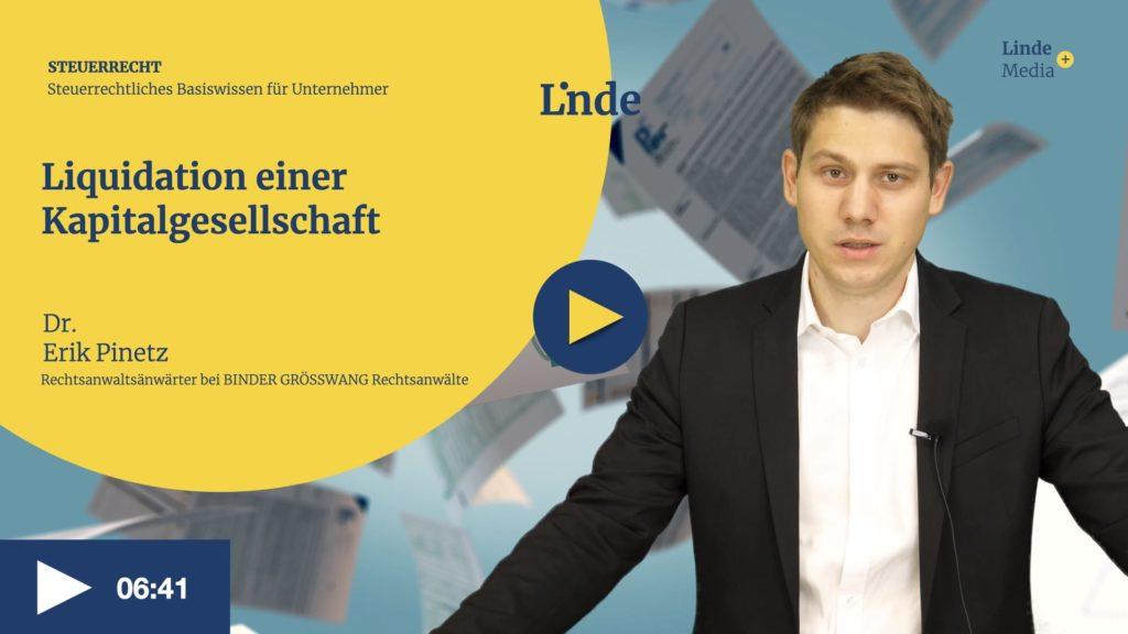 VIDEO: Liquidation einer Kapitalgesellschaft