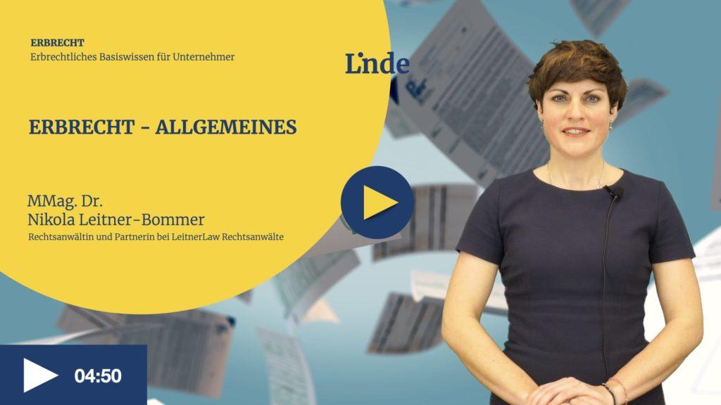 VIDEO: Erbrecht – Allgemeines