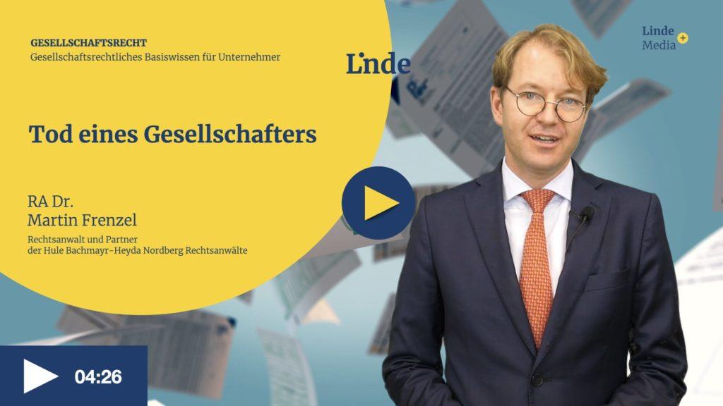 VIDEO: Tod eines Gesellschafters – Martin Frenzel