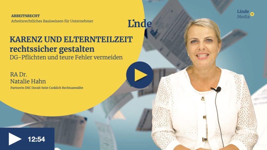 VIDEO: KARENZ UND ELTERNTEILZEIT – rechtssicher gestalten