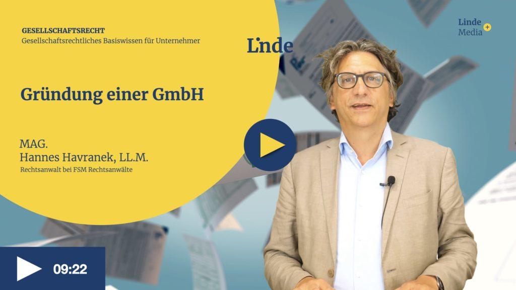 VIDEO: Gründung einer GmbH – Hannes Havranek