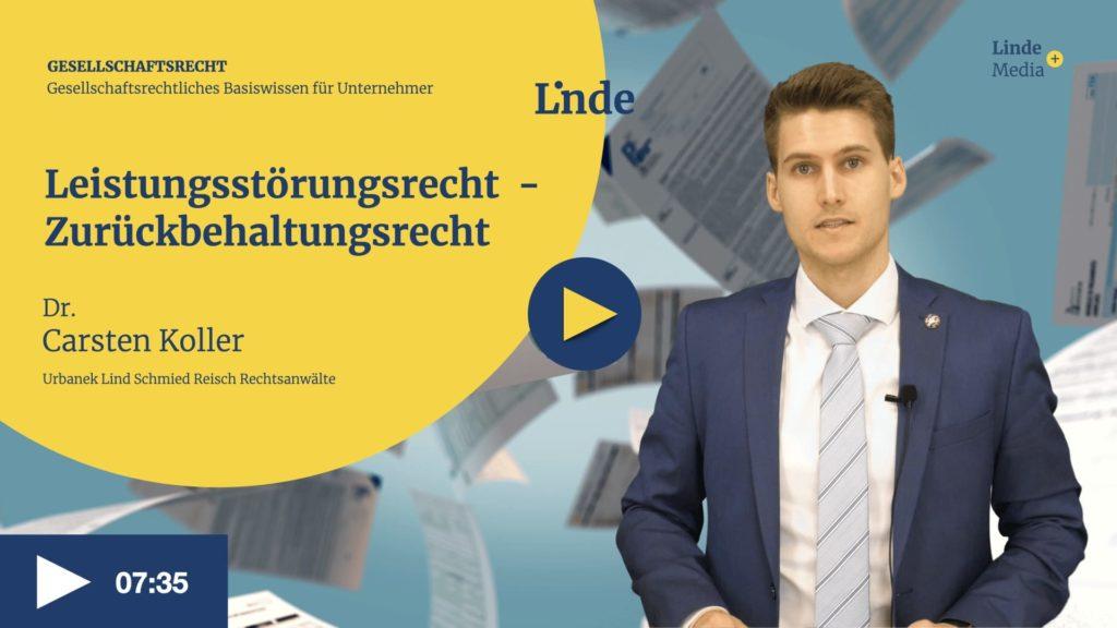 VIDEO: Leistungsstörungsrecht – Zurückbehaltungsrecht