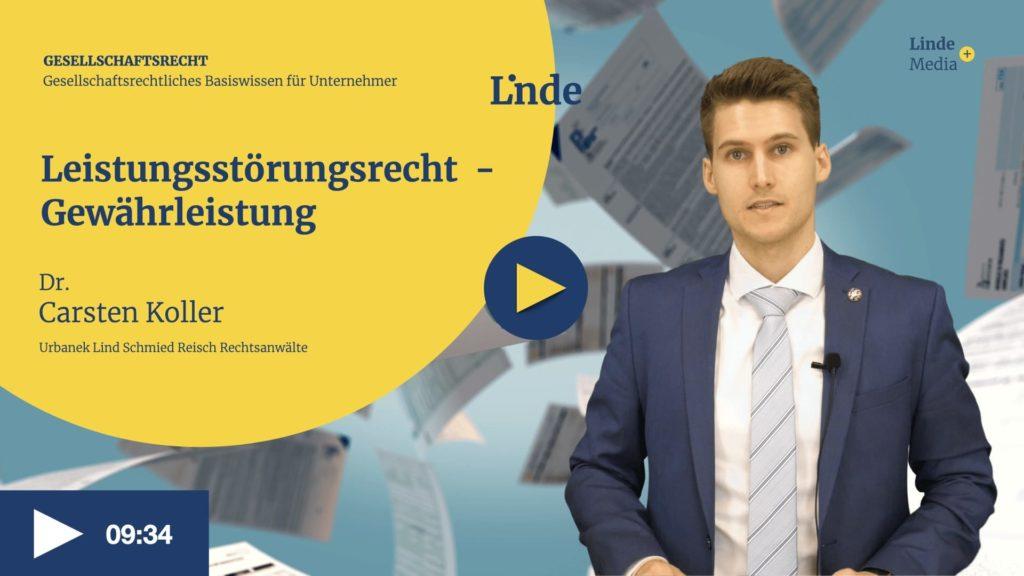 VIDEO: Leistungsstörungsrecht – Gewährleistung