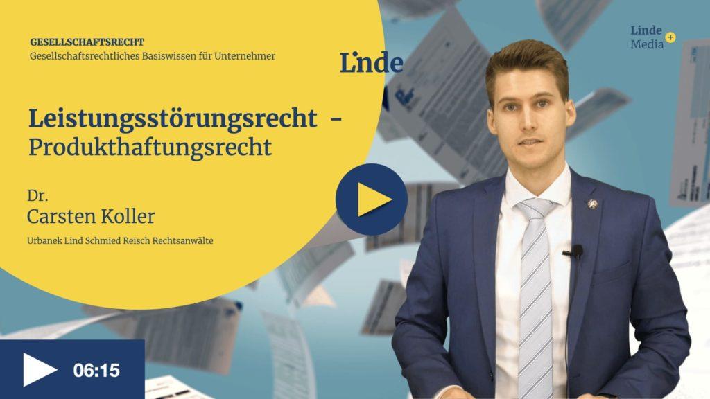 VIDEO: Produkthaftungsrecht