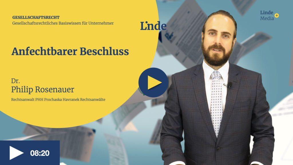 VIDEO: Anfechtbarer Beschluss – Philip Rosenauer