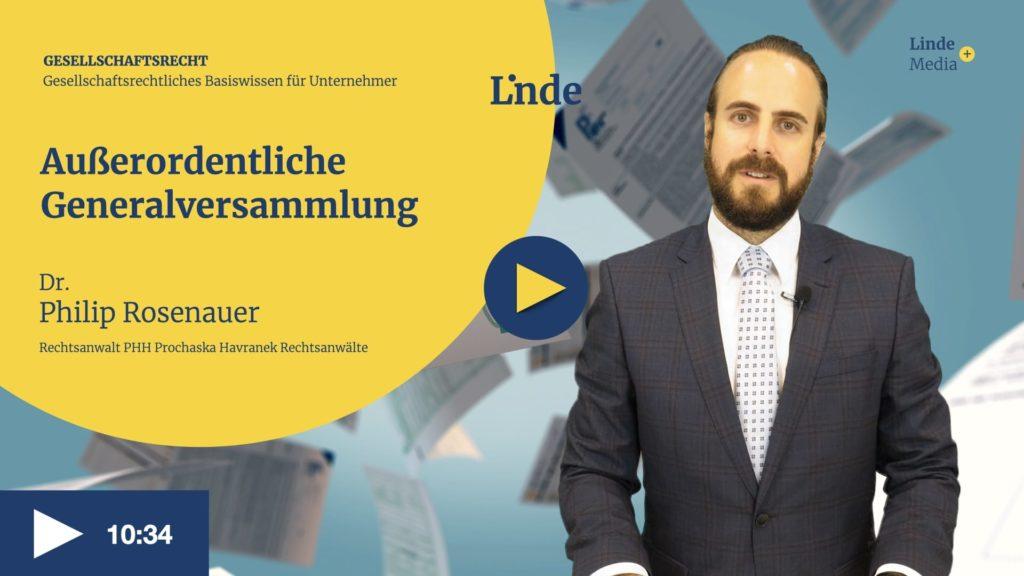 VIDEO: Außerordentliche Generalversammlung – Philip Rosenauer