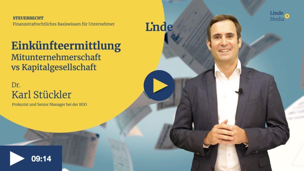VIDEO: Einkünfteermittlung – Mitunternehmerschaft vs Kapitalgesellschaft