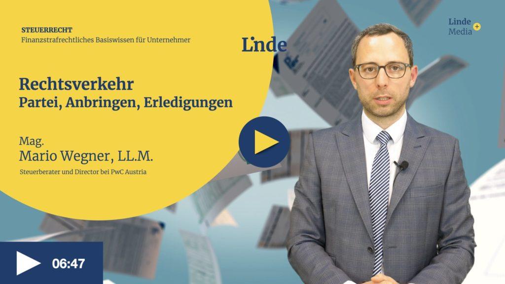 VIDEO: Rechtsverkehr – Partei, Anbringen, Erledigungen – Mario Wegner