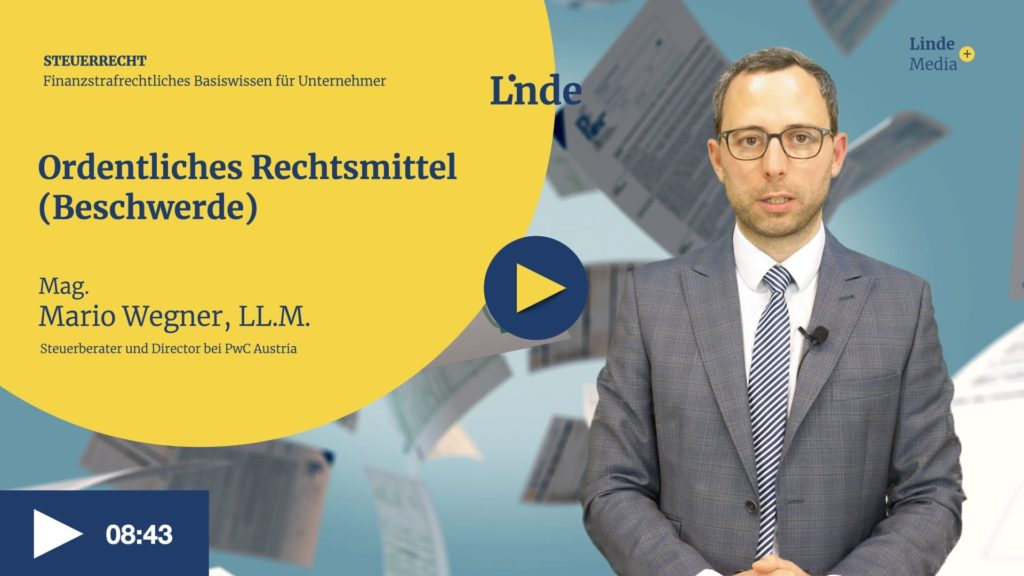 VIDEO: Ordentliches Rechtsmittel (Beschwerde) – Mario Wegner