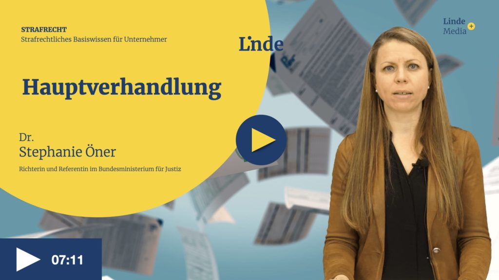 VIDEO: Hauptverhandlung – Stephanie Öner