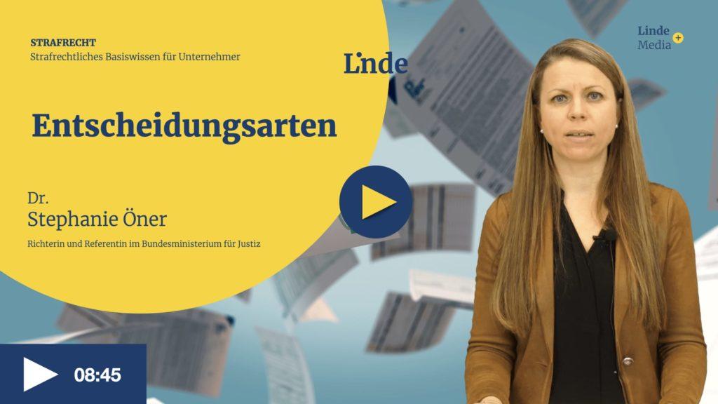 VIDEO: Entscheidungsarten – Stephanie Öner