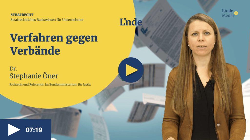 VIDEO: Verfahren gegen Verbände – Stephanie Öner