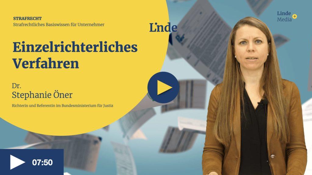 VIDEO: Einzelrichterliches Verfahren – Stephanie Öner